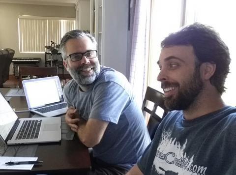 Tom and Jeff doing some computer science
