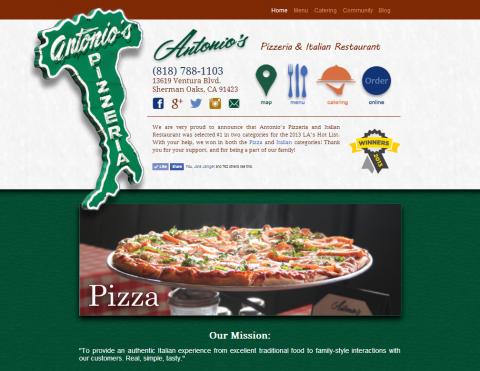 Antonio's Pizzeria Design