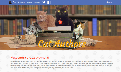Cat Authors - Banner Design