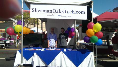 Sherman Oaks Tech and Charles Creative, at the street fair.