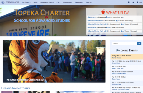 Charles Creative builds websites for schools and organizatoins