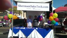 Sherman Oaks Tech and Charles Creative, at the street fair.