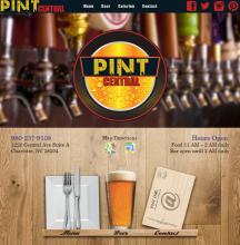 Pint Central Home Page Design