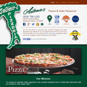 Antonio's Pizzeria Design