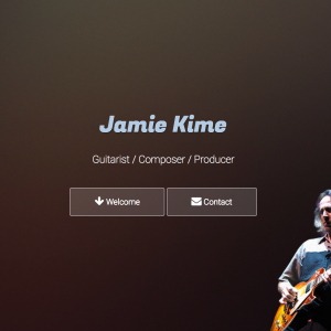 JamieKime.com HTML-only website made in HTML5